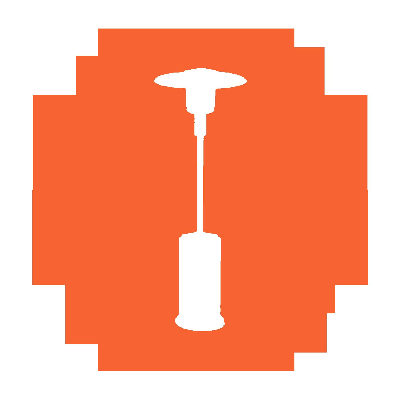 Alke Parasolverwarming PH8 Propaan met elektrische ontsteking