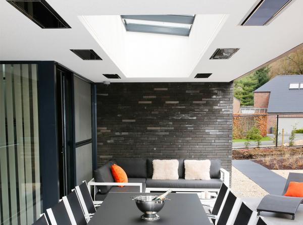 Terrasverwarming inbouwen in het plafond