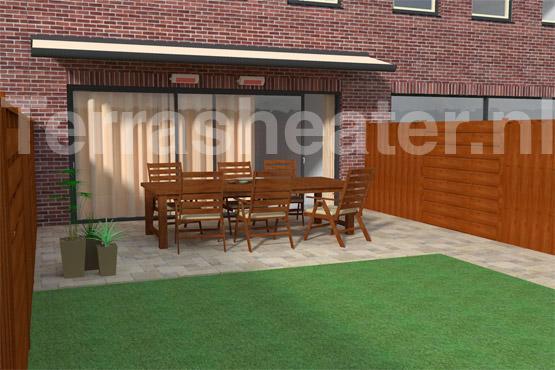 Wattage elektrische terrasheater